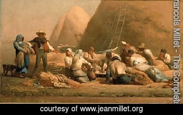 Jean-Francois Millet - Harvesters Resting (or Ruth and Boaz)