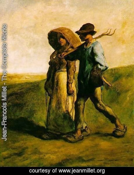 Jean-Francois Millet - The Walk to Work (or Le Depart pour le Travail)