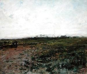 Landscape with a Peasant Woman, early 1870s