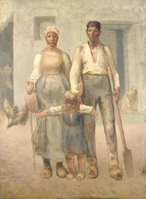 Jean-Francois Millet - The Peasant Family, 1871-72