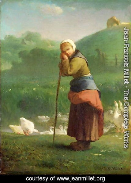 Jean-Francois Millet - The Goose Girl at Gruchy, 1854-56