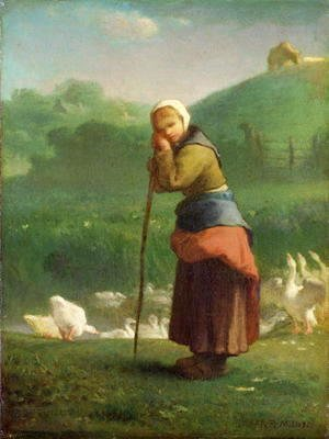 The Goose Girl at Gruchy, 1854-56