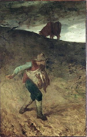 Jean-Francois Millet - The Sower, 1847-48