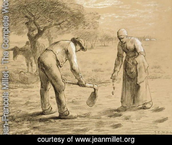 Jean-Francois Millet - Peasants planting potatoes