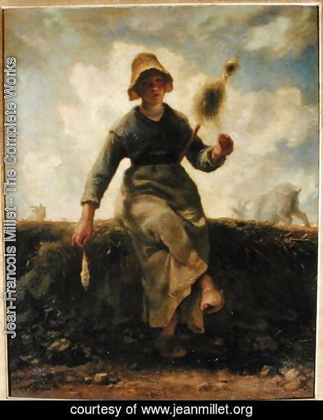Jean-Francois Millet - The Spinner, Goatherd of the Auvergne, 1868-69