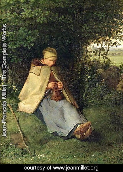 The Knitter or, The Seated Shepherdess, 1858-60