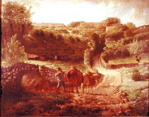 Jean-Francois Millet - The Cousin Hamlet at Greville, c.1865-73