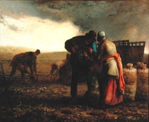 Jean-Francois Millet - The Potato Harvest, 1855