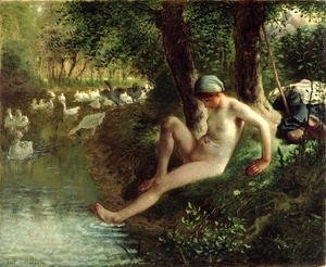 Jean-Francois Millet - The Bather, 1863