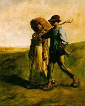 Jean-Francois Millet - Going to Work, c.1850-51