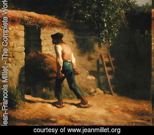 Jean-Francois Millet - Peasant with a Wheelbarrow, 1848-5