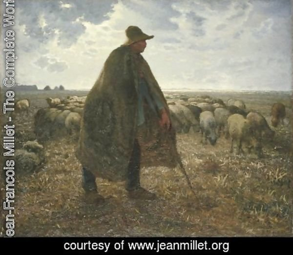 Jean-Francois Millet - Shepherd Tending His Flock