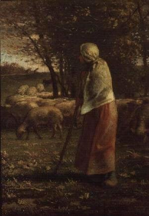 Jean-Francois Millet - The Little Shepherdess
