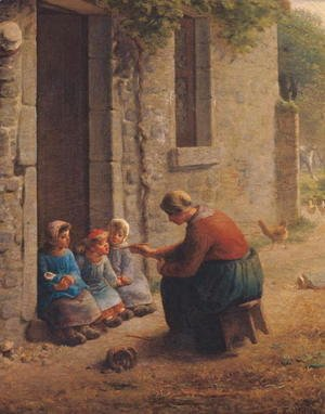 Jean-Francois Millet - Feeding the Young, 1850
