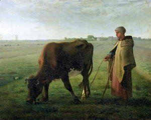 Woman Grazing her Cow, 1858