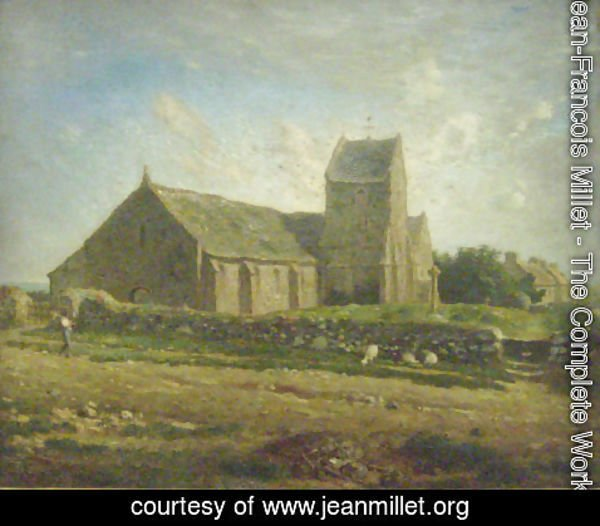 Jean-Francois Millet - The Church at Greville, c.1871-74