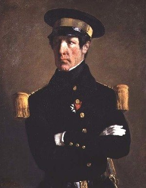 Jean-Francois Millet - Portrait of a Naval Officer, 1845