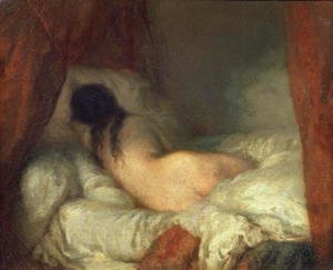 Jean-Francois Millet - Reclining Female Nude, c.1844-45