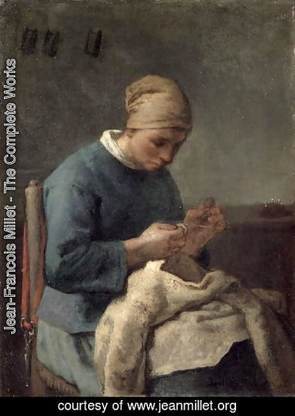 Jean-Francois Millet - The Seamstress