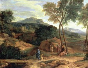 Jean-Francois Millet - Landscape with Conopion Carrying the Ashes of Phocion