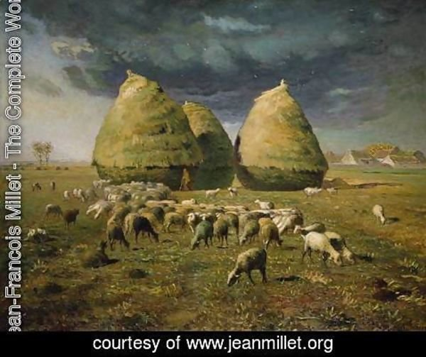 Jean-Francois Millet - Haystacks, Autumn, 1873-74