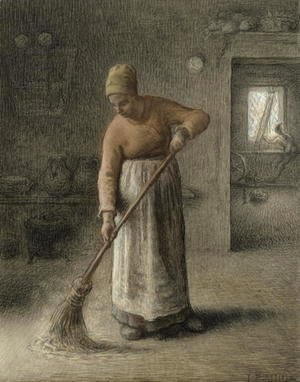 Jean-Francois Millet - A Farmer's wife sweeping, 1867