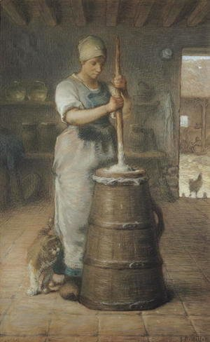Jean-Francois Millet - Churning Butter, 1866-68