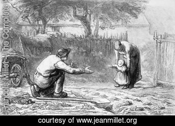 Jean-Francois Millet - The First Steps