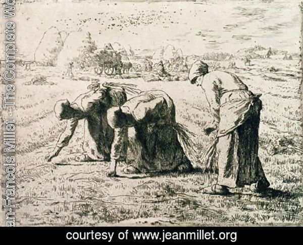 Jean-Francois Millet - The Gleaners, 1855