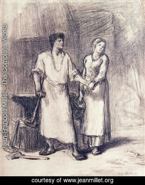 Jean-Francois Millet - The Blacksmith and His Bride