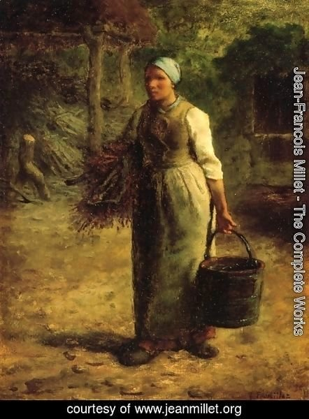 Jean-Francois Millet - Woman Carrying Firewood and a Pail
