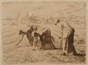 Les glaneuses (Etching)