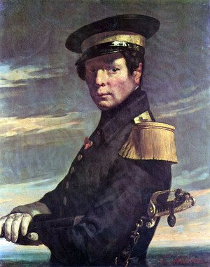 Jean-Francois Millet - Portrait of a Marine officer