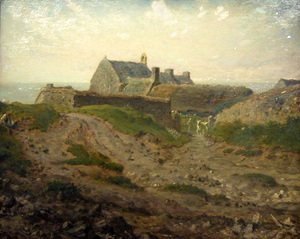 Jean-Francois Millet - Priory at Vauville, Normandy