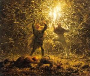 Jean-Francois Millet - Hunting Birds at Night