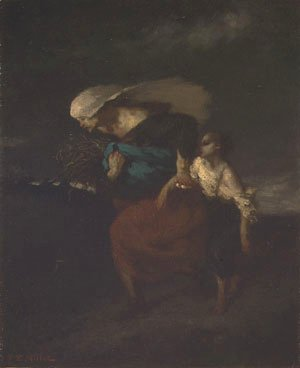 Jean-Francois Millet - Retreat from the Storm ca 1846