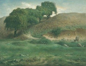 Jean-Francois Millet - Path through the Chestnut Trees, Cusset