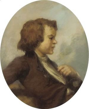 Jean-Francois Millet - Portrait Of A Young Boy
