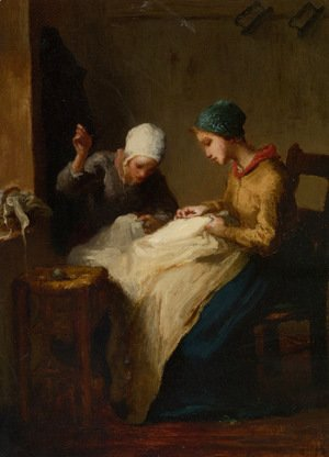 Jean-Francois Millet - The Young Seamstresses
