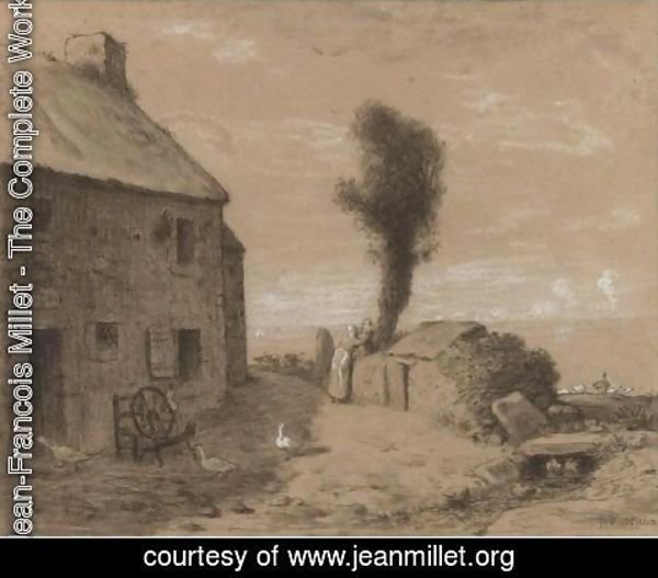 Jean-Francois Millet - End Of The Hamlet Of Gruchy