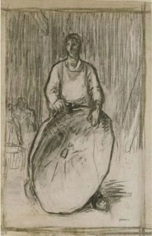 Peasant Holding A Winnowing Basket