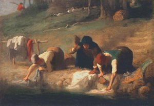 Jean-Francois Millet - The Washerwomen