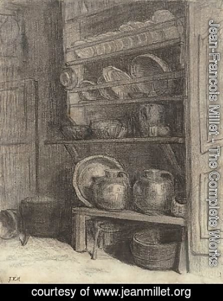 Jean-Francois Millet - The dresser in Gruchy