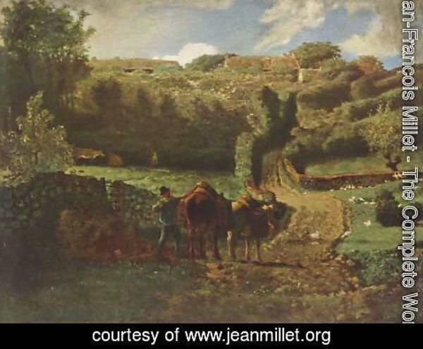 Jean-Francois Millet - Manor farm Cousin in Greville 2