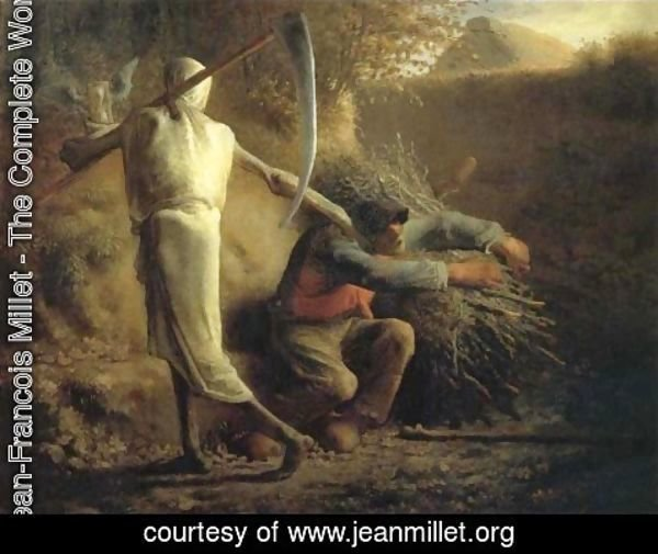 Jean-Francois Millet - Death and the woodcutter