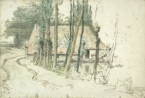 Jean-Francois Millet - Surroundings of Vichy, house near the water
