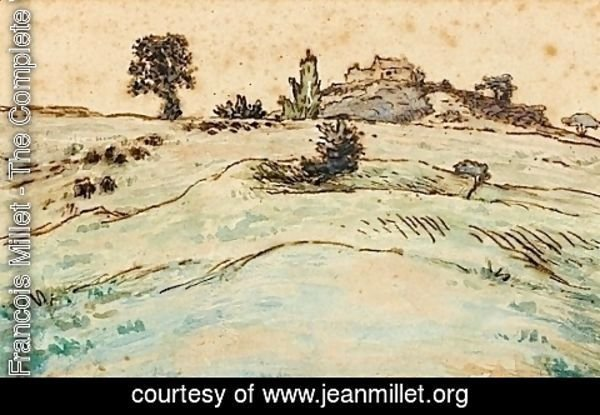 Jean-Francois Millet - Farm on the hills of the Ardoisiere near Cusset