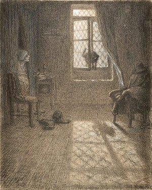Jean-Francois Millet - The Cat Who Became a Woman