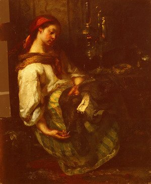 Jean-Francois Millet - The Sleeping Seamstress