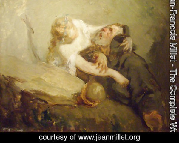 Jean-Francois Millet - The Temptation of St. Anthony